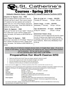 Courses St Catherines January 2018